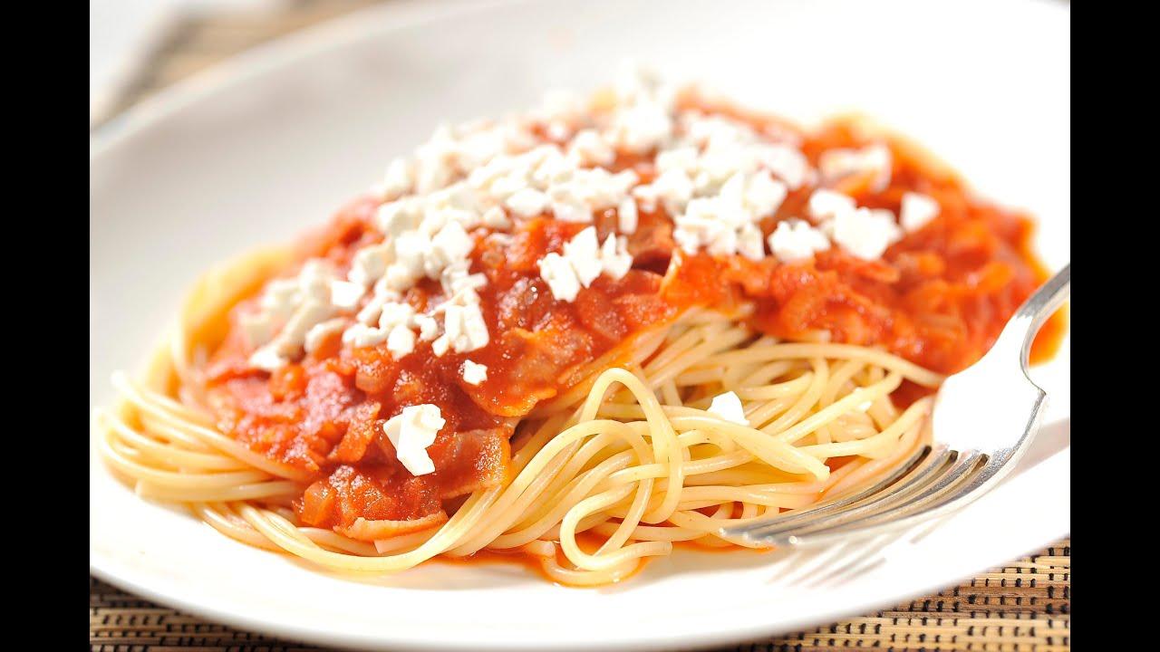 Cocinar espagueti rojo rapido facil y sencillo youtube for Cocinar berenjenas facil