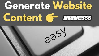 Download lagu Generate Website Content With AI Using Nichesss [Frase.io + Niches$$ combo]