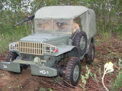 World War II action figures 1/6 scale RC converted 4x4 WC52 Carrier truck.wmv