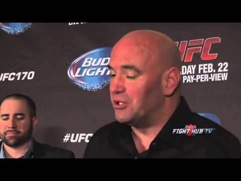 UFC 170 Rousey vs McMann Dana White full post fight scrum