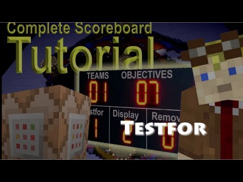 How To use the testfor command with the Minecraft Scoreboard feature