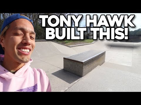 TONY HAWK BOUGHT US THIS SKATEPARK!!