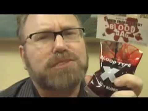 Fail CANDY Human BLOOD for KIDS!  Funny Video Review by Mike Mozart of JeepersMedia