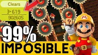 Pixel Perfecto para la Victoria ! - NIVELES 99% IMPOSIBLES #39   Super Mario Maker   ZetaSSJ