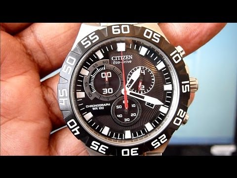 How To Set Time. Calendar. Chrono. Low Battery Signal on CITIZEN Eco-Drive Wrist Watch