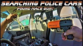 Searching Police Cars Found Mace Gun!