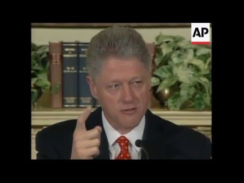 USA: Clinton Denies Having An Affair With Monica Lewinsky - 1998
