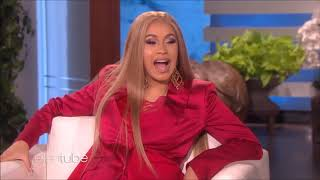 Cardi B and Ellen interview ALL FUNNY AND AWKWARD MOMENTS