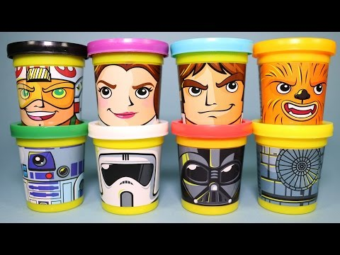 Star Wars Play Doh Can Heads Learn Colours Surprise Eggs Peppa Pig Minions Transformers Toys