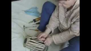 White India  Tabla Lesson  9  How To Pull A Tabla Dayan To Retune It Higher