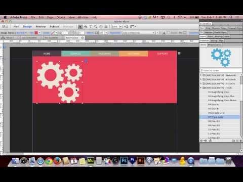 Adobe Muse CC 7.0 Tutorial   Beautiful Graphic Navigation