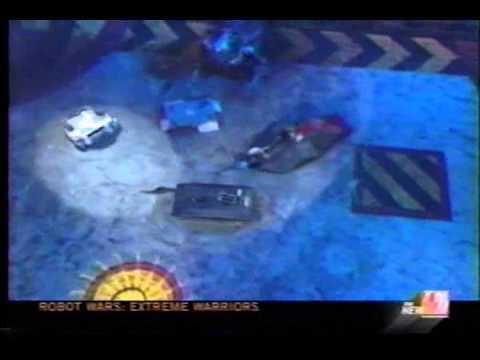 Texas Tornado/Mad Cow Bot Vs Trackzilla/Trilobyte (Robot Wars US Tag Team Round 1)