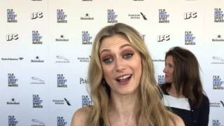 "Marin Ireland (""Glass Chin"") chats on the Independent Spirit Awards red carpet"