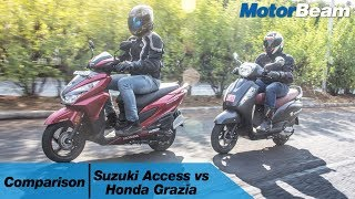 Suzuki Access 125 vs Honda Grazia - Comparison Review | MotorBeam