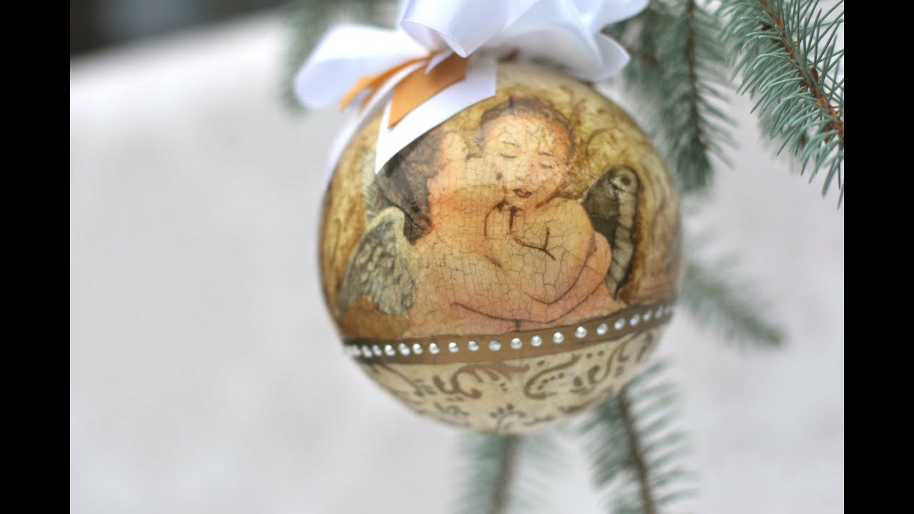 Decoupage Christmas Balls