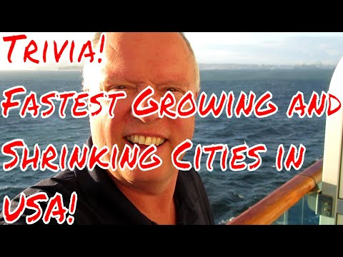 Trivia Day Today! Name the Fastest Growing and Shrinking Cities in th USA! No Googling!