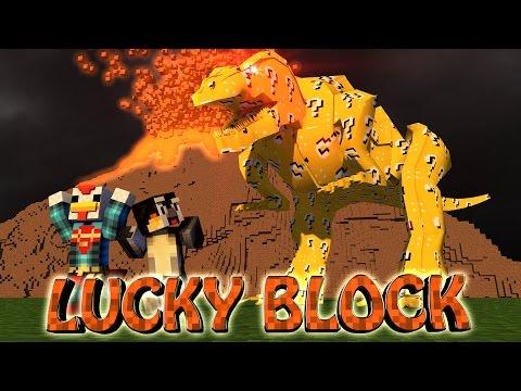 Minecraft | Lucky Block Boss Challenge - Dinosaur Mod! (t-rex, Velociraptors) video