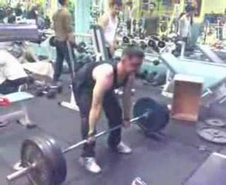 0 Dead lift 180 kg (400 lbs)