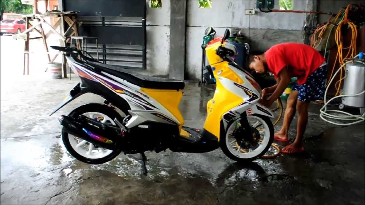 Yamaha Mio 125 Mx Moto Washing Tagalog Youtube