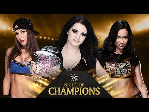 WWE Night Of Champions 2014 Paige vs Nikki Bella vs Aj Lee Triple Threat Divas Championship match pg