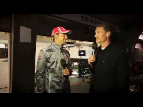 BBC F1: Jenson Button and Lewis Hamilton doing BBC F1 Broadcasting