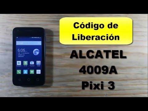 Como liberar desbloquear Alcatel Pixi 3 4009A 5015A Unefon Movistar unlock code