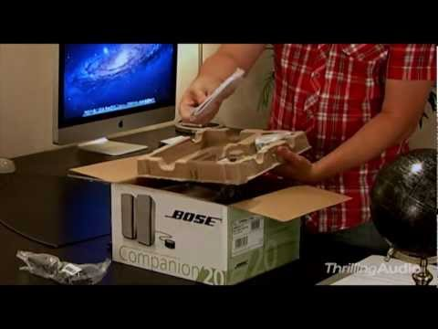 Bose Companion 20 Multimedia Speaker System - Unpack and Setup