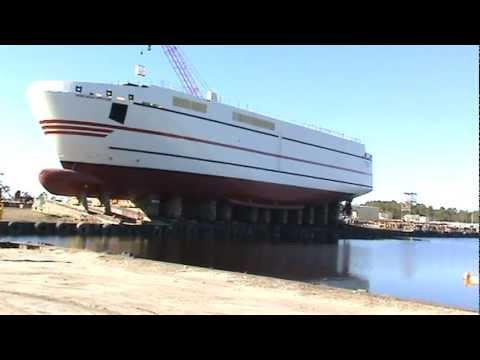 Ship Launch - Launch of Grand Manan Adventure