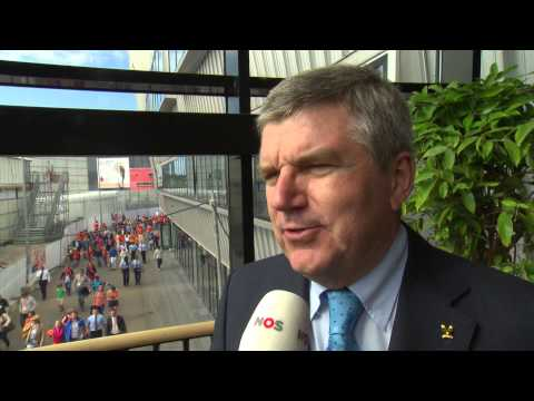 The future of hockey is bright! Hear President Thomas Bach's Interview from the Hockey World Cup