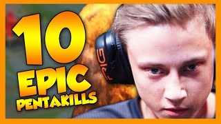 10 Epic Pentakills - League of Legends