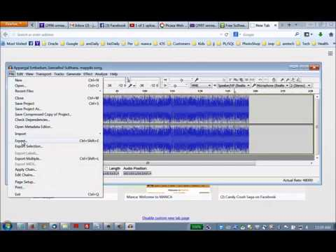 Editing MP3 files using audacity