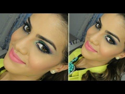 Maquiagem usando produtos BRASILEIROS
