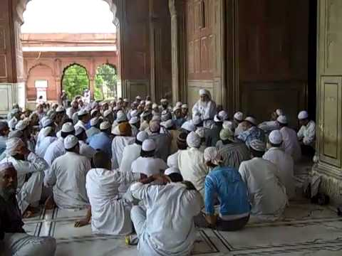 Massive Muslim Jumma Masjid Mosque in New Delhi, India