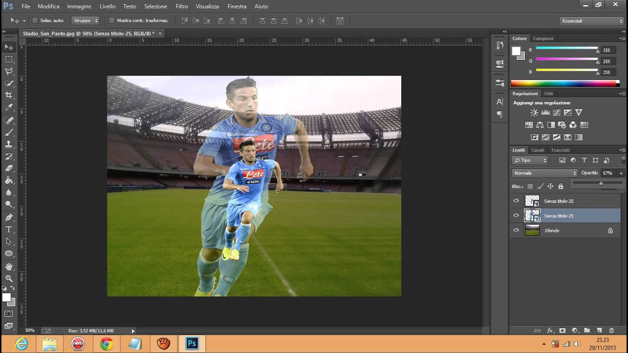 Photoshop tutorial italiano - Come sovrapporre immagini ...