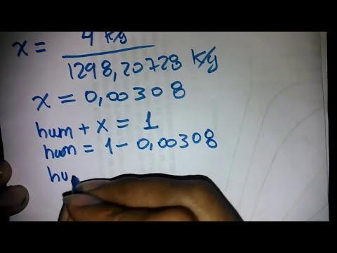 Humedad y Calidad de la mezcla - Tablas de propiedades termodinamicas