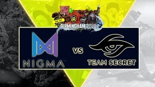 [Dota 2 Live] Nigma vs Team Secret- ESL One Birmingham EU&CIS -- ANONIM