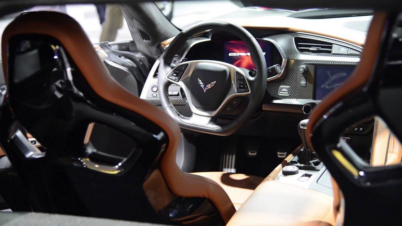 2015 Chevrolet Corvette Z06 Interior Details Detroit 2014 Walkaround Youtube