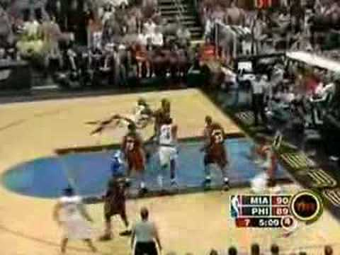Allen Iverson 38pts 16asts vs Dwyane Wade Shaq Heat 04/05 Video