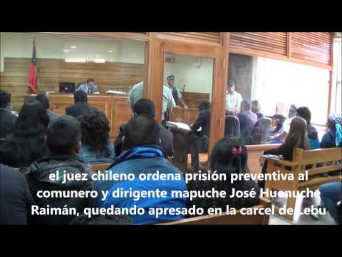 Juicios a la nacion mapuche- Jose Huenuche Raiman (Cañete 22ene15)
