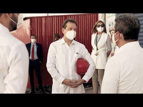 Presidente Abinader visita complejo licorero Casa Brurgal