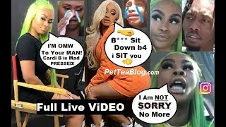 Summer Bunni Takes Cardi B Apology Back, Cries Again says Interview & IG Deleted Over OFFSET Tea 🐸❌