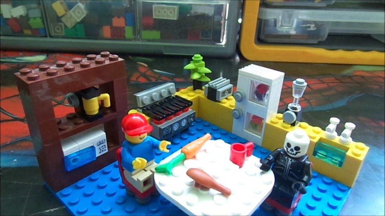 Como Hacer Una Cocina Lego Mr P Youtube