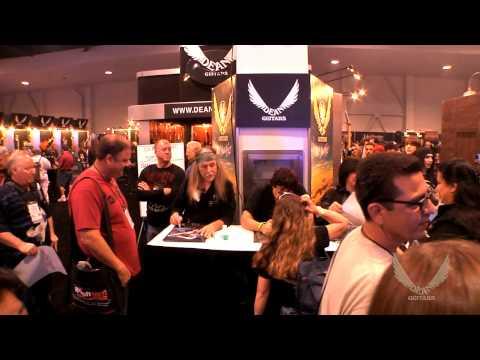Dean Guitars / DDRUM 2014 N.A.M.M. Artist Signings - Uli Roth, Carmine Appice, Michael Angelo Batio