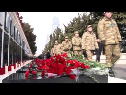 Azerbaycan 20 Ocak Şehitlerini 28. Yıldönümünde Anıyor