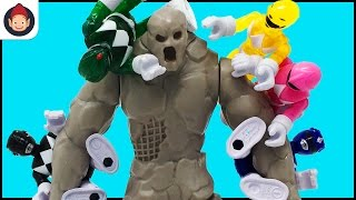 Imaginext Power Rangers Battle New Power Rangers Movie Smash And Bash Putty Toy - Unboxing Video