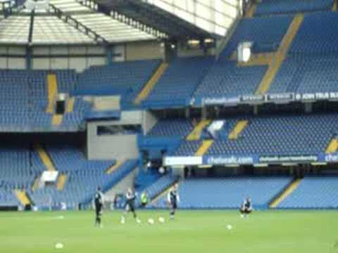 Chelsea FC Fan Day - Boys taking shots on goal