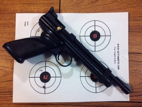 Review. Crosman 2240  22 Cal Co2 Target Pistol. Shooting & Chrony Test