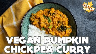 Cooking from my Pantry: 30 min Vegan Pumpkin Chickpea Curry