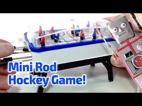 1997 POCKET ROD HOCKEY Working Miniature Game by Basic Fun