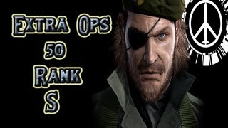 MGS Peace Walker - Guia - Extra Ops 50  S  Rank  - ( Conseguir  Camuflaje Optico )